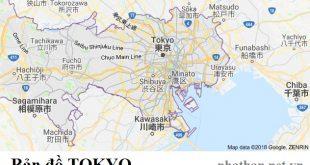 Bản đồ Tokyo Nhật Bản