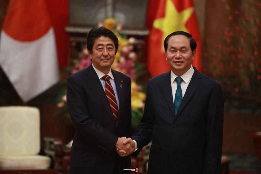 Chủ tịch Trần Đại Quang tiếp thủ tướng Nhật Bản