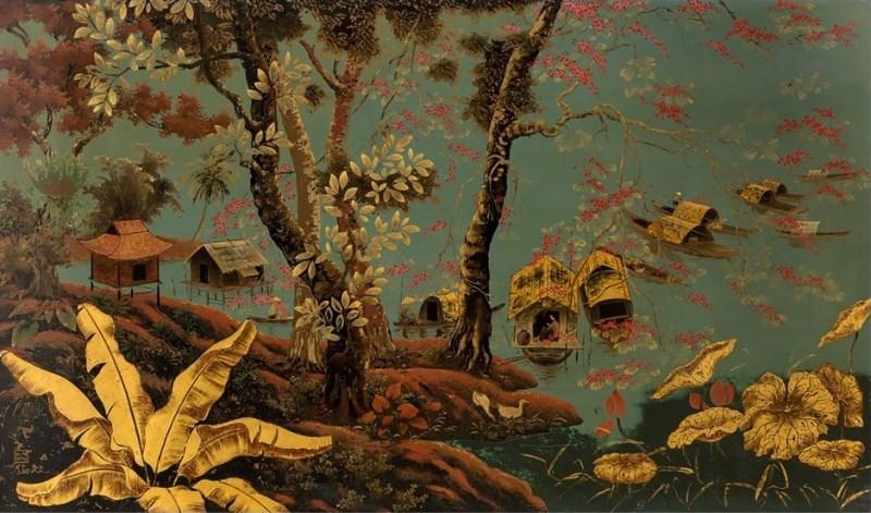 Tranh sơn mài cũng được nhiều người Nhật ưa chuộng, có thể chọn làm quà mỗi khi gặp khách Nhật