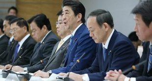 Tổng thốngShinzo Abe trong cuộc họp tại Nhật Bản vào ngày 27/2. Ảnh: AFP