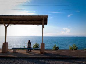 Nhà ga cô đơn Shimonada Nhật Bản