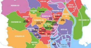 Bản đồ Tokyo - Nhật Bản