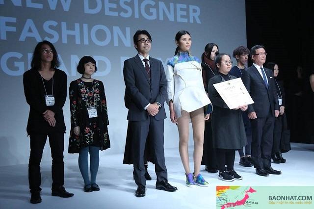 Nữ du học sinh đầu tiên của Việt Nam chiến thắng cuộc thi thiết kế thời trang lớn nhất Nhật Bản