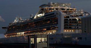 Du thuyền Diamond Princess tại cảng Yokohama hôm 19/2. Ảnh: Reuters.