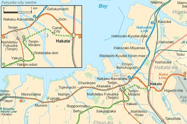 Bản đồ tỉnh Fukuoka - Nhật Bản