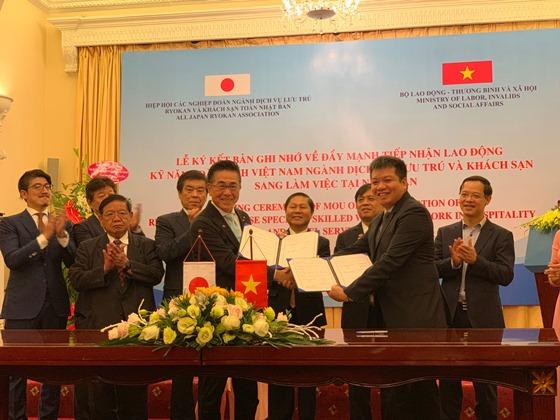 Lễ ký kết thỏa thuận Giữa Cục QLLĐNN và Hiệp hội các nghiệp đoàn ngành dịch vụ lưu trú Ryokan và khách sạn toàn Nhật Bản