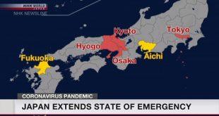 Các tỉnh ở Nhật kéo dài tình trạng khẩn cấp do dịch Covid 19