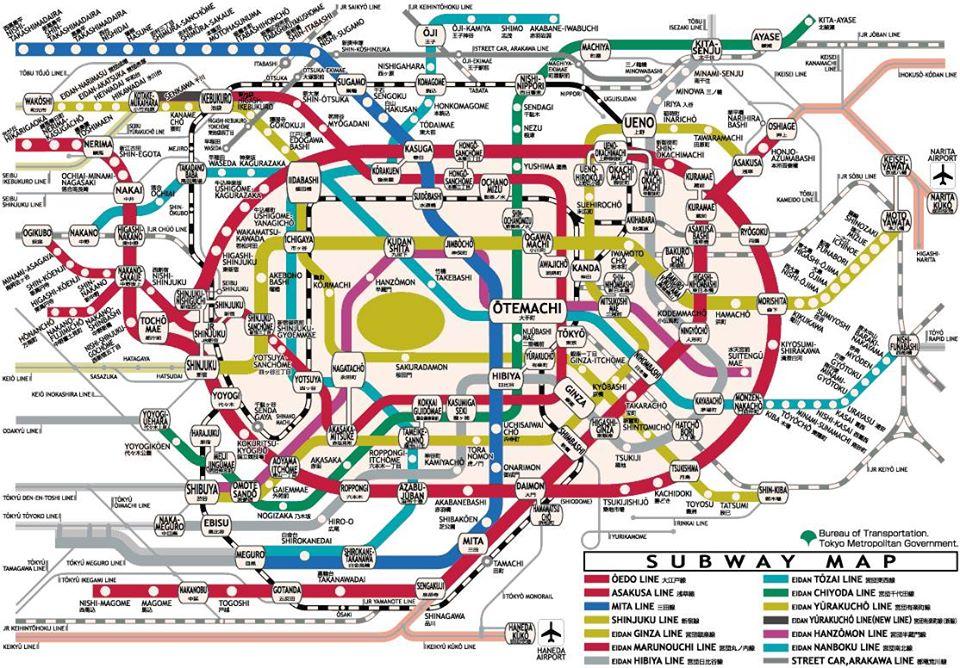 Bản đò tầu điện Tokyo